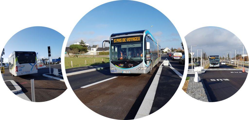 Saint Nazaire, BHNS, Bus, Hélyce, requalification, priorité bus, carrefours à feux, voie dédiée, signalisation lumineuse tricolore, maitrise d'œuvre,